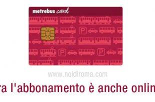 abbonamento metrebus card si può richiedere online