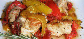 pollo con i peperoni la ricetta