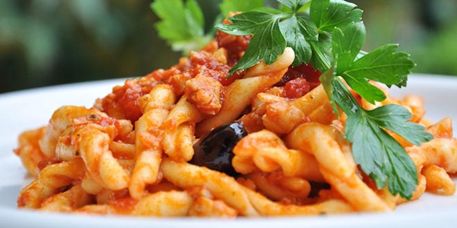 pasta con sugo persico ricetta