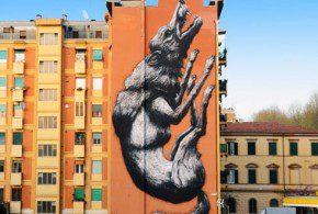 lupa in zona testaccio street art a roma